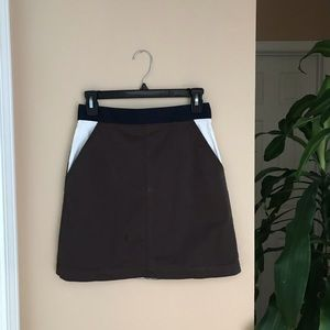 modern brown mini skirt